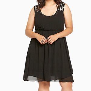 Torrid Studded Strappy Chiffon Dress
